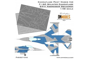 Mask set - F-16C Blue Splinter Aggressor (1:48) - 48/827-040
