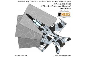 Mask set - F/A-18 Hornet Aggressor Arctic Splinter Camo (1:48) - 48/827-034