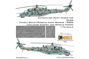 Mask set - Mil Mi-24 Soviet/Russian Camo 1980 (1:72) - 72/827-011