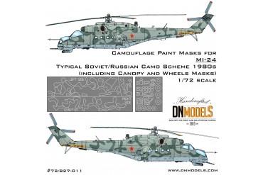 Mask set - Mil Mi-24 Soviet/Russian Camo 1980 (1:72) - 72/827-011