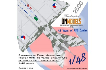 Mask set -  MiG-21MFN Caslav Air Base Czech Tiger Camouflage (1:48) - 48/827-056