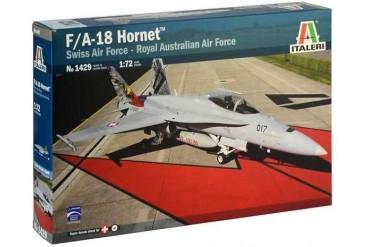 Model Kit letadlo 1429 - F/A 18 Hornet Swiss A.F./RAAF (1:72)