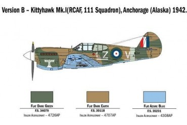 Model Kit letadlo 2795 - P-40E/K Kittyhawk (1:48)
