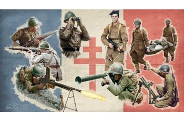 Model Kit figurky 6189 - WWII - Free French Infantry (1:72)