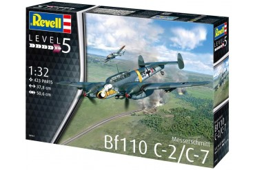 Plastic ModelKit letadlo 04961 - Messerschmitt Bf110 C-2/C-7 (1:32)