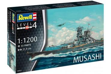 Plastic ModelKit loď 06822 - Musashi (1:1200)