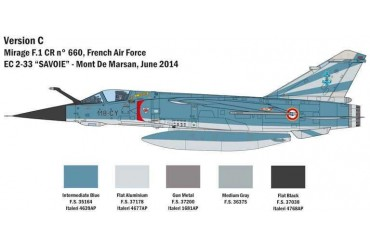 Model Kit letadlo 2790 - Bye-bye MIRAGE F1 (1:48)