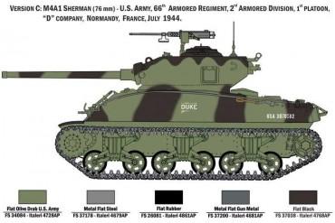 Model Kit tank 6568 - M4A1 Sherman with U.S. Infantry (1:35)