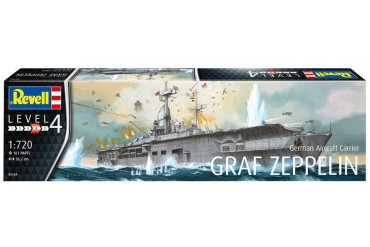 Plastic ModelKit loď 05164 - German Aircraft Carrier GRAF ZEPPELIN (1:720)