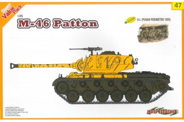 Model Kit tank 9147 - M46 Patton + G.I. (1:35)