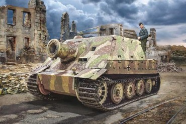 Model Kit military 6573 - 38 cm RW 61 auf STURMMORSER TIGER (1:35)