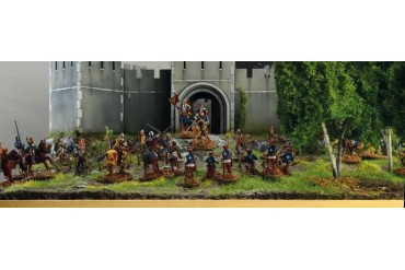 Model Kit diorama 6185 - 100 YEARS' WAR Castle under siege (1:72)
