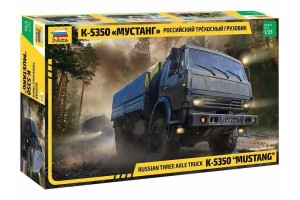 "Model Kit military 3697 - Russian three axle truck K-5350 ""MUSTANG"" (1:35)"