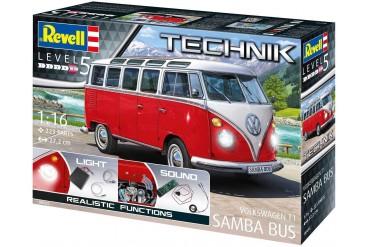 """Plastic ModelKit TECHNIK auto 00455 - Volkswagen T1 """"Samba Bus"""" (1:16)"""