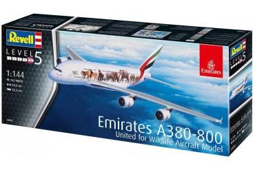 "Plastic ModelKit letadlo 03882 - Airbus A380-800 Emirates ""Wild Life"" (1:144)"