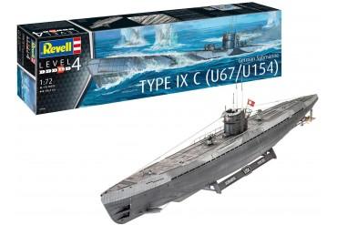 Plastic ModelKit ponorka 05166 - German Submarine Type IXC U67/U154 (1:72)
