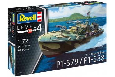 Plastic ModelKit loď 05165 - Patrol Torpedo Boat PT-588/PT-579  (1:72)