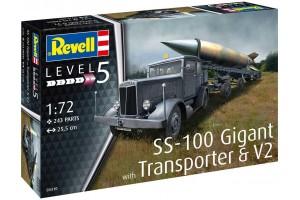Plastic ModelKit military 03310 - SS-100 Gigant + Transporter + V2 (1:72)