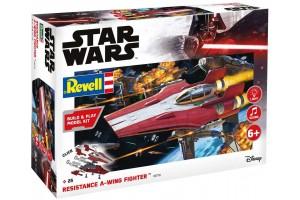 Build & Play SW 06770 - Resistance A-wing Fighter, red (světelné a zvukové efekty) (1:44)