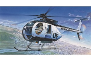 Model Kit vrtulník 12249 - HUGHES 500D POLICE HELICOPTER (1:48)