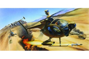 Model Kit vrtulník 12250 - HUGHES 500D TOW HELICOPTER (1:48)