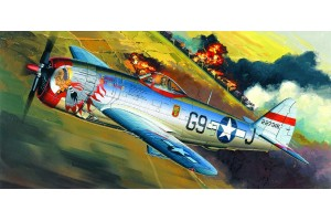 "Model Kit letadlo 12491 - P-47D ""BUBBLE-TOP"" (1:72)"