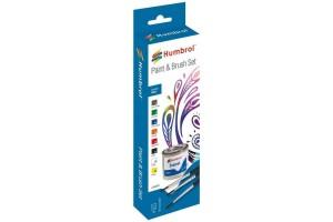 Humbrol sada emailových barev a štětců AA9060 - Gloss