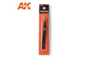 Zahnutá pinzeta (Cruved tweezers) - AK9007