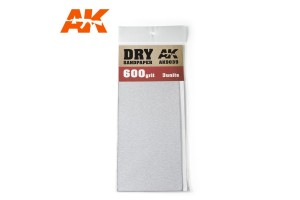 Brusný papír 600 - suché použití (Dry Sandpaper 600) 3ks - AK9039