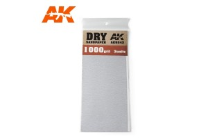 Brusný papír 1000 - suché použití (Dry Sandpaper 1000) 3ks - AK9042