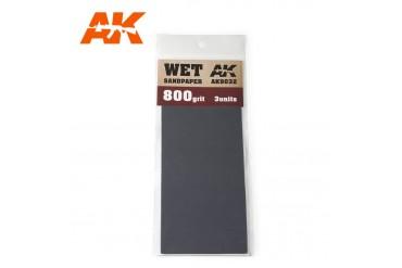 Brusný papír 800 - mokré použití (Wet Sandpaper 800) 3ks - AK9032