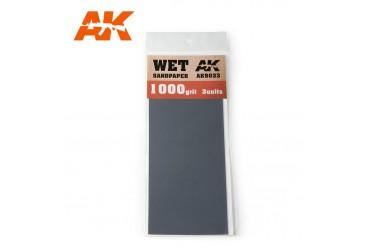 Brusný papír 1000 - mokré použití (Wet Sandpaper 1000) 3ks - AK9033