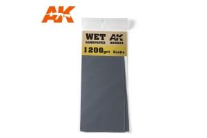 Brusný papír 1200 - mokré použití (Wet Sandpaper 1200) 3ks - AK9034