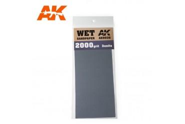 Brusný papír 2000 - mokré použití (Wet Sandpaper 2000) 3ks - AK9036