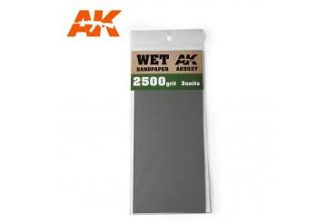 Brusný papír 2500 - mokré použití (Wet Sandpaper 2500) 3ks - AK9037