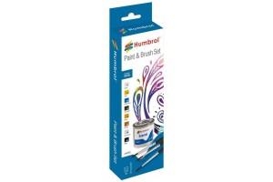 Humbrol sada emailových barev a štětců AA9062 - Metallic