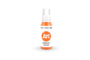 218: Clear Orange (17ml) - acryl
