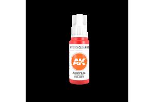 213: Clear Red (17ml) - acryl