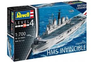 Plastic ModelKit loď 05172 - HMS Invincible (Falkland War) (1:700)