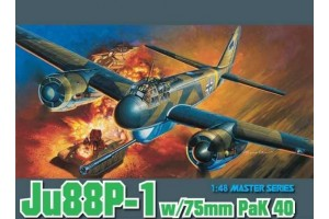 Model Kit letadlo 5543 - Ju88P-1 w/75mm PaK 40 (1:48)