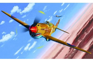 "Model Kit letadlo 12235 - TOMAHAWK IIB ""ACE OF AFRICAN FRONT"" :LE (1:48)"