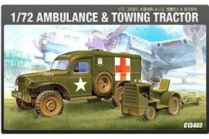 Model Kit military 13403 - US AMBULANCE & TRACTOR (1:72)