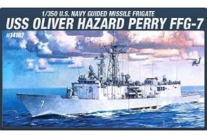 Model Kit loď 14102 - USS OLIVIER HAZARD PERRY FFG-7 (1:350)