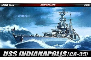 Model Kit loď 14107 - USS CA-35 INDIANAPOLIS (1:350)