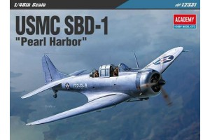 "Model Kit letadlo 12331 - USMC SBD-1 ""Pearl Harbor"" (1:48)"