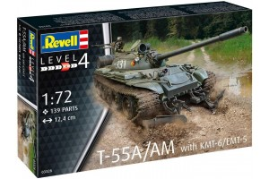 Plastic ModelKit tank 03328 - T-55A/AM with KMT-6/EMT-5 (1:72)