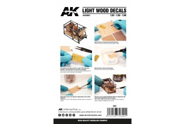 LIGHT WOOD DECAL (1:48, 1:35, 1:32) - AK9081