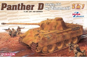 Model Kit tank 6945 - Sd.Kfz.171 Panther Ausf.D with Zimmerit (2 in 1) (1:35)