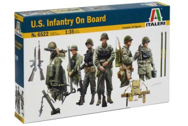 Model Kit loď 6522 - U.S. INFANTRY ON BOARD (1:35)