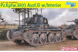 Model Kit tank 6290 - Pz.Kpfw.38(t) Ausf.G w/INTERIOR (SMART KIT) (1:35)